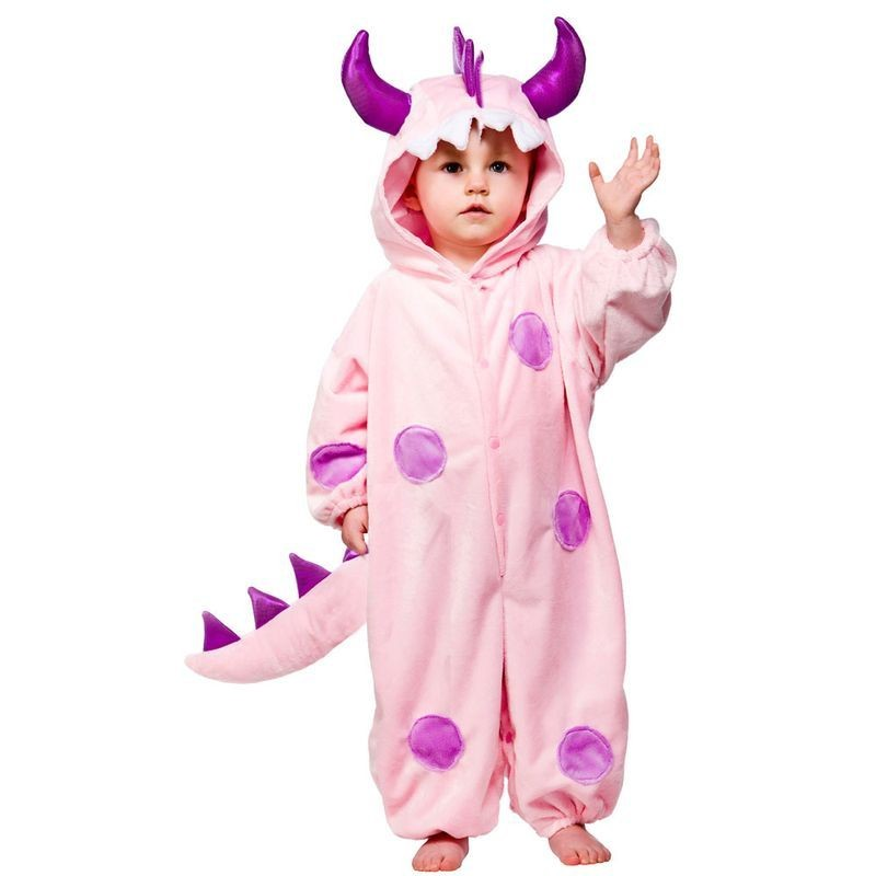 Toddler Pink Monster Animal Outfit - Toddler -> Age To 18M (Pink)