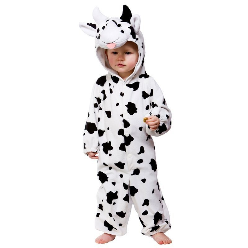 Toddler Cow Animal Outfit - Toddler -> Age To 18M (Black, White)