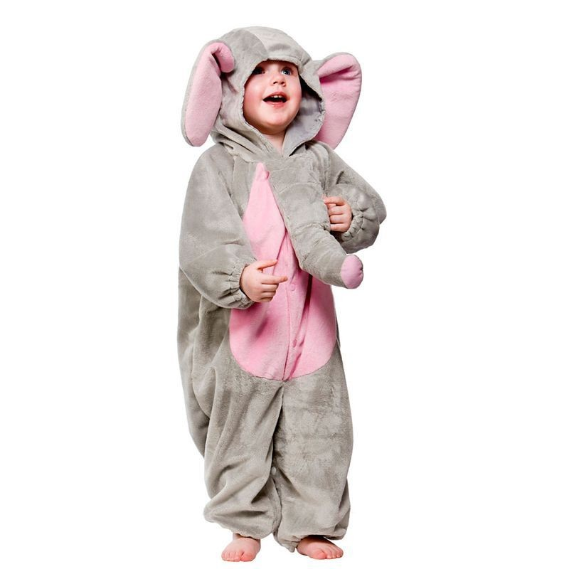 Toddler Elephant Animal Outfit - Toddler -> Age To 18M (Grey)