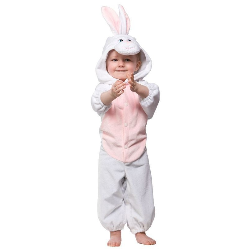 Toddler Bunny Rabbit Animal Outfit - Toddler -> Age To 18M (White, Pink)