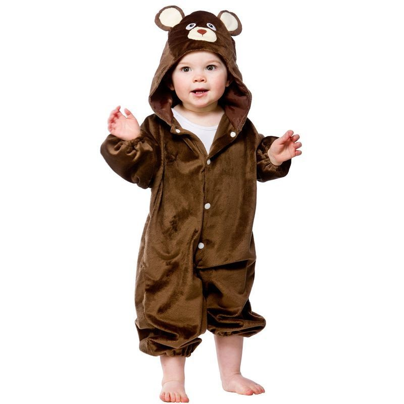 Toddler Teddy Bear Animal Outfit - Toddler -> Age To 18M (Brown)