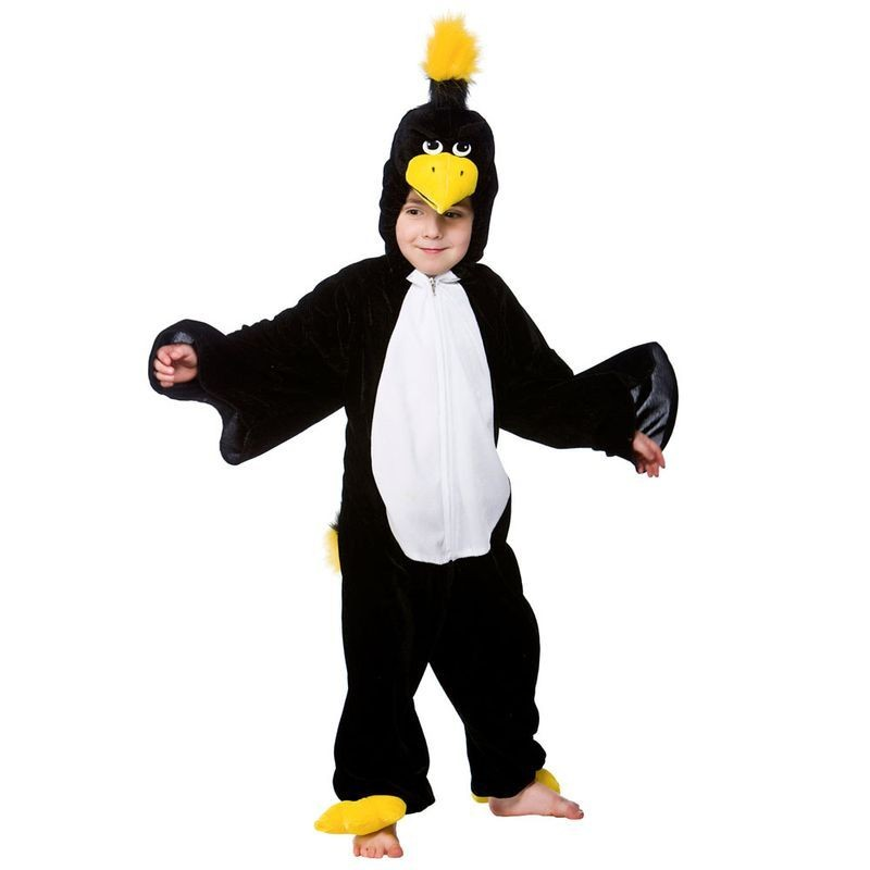Adult Unisex Blackbird Jumpsuit Animal Outfit - (Black)