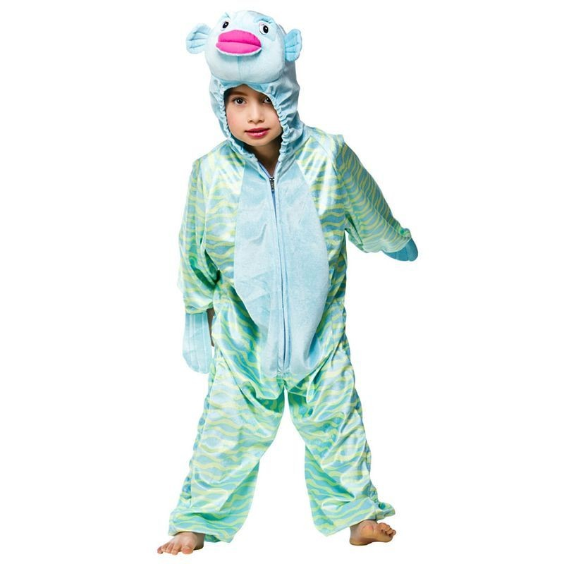 Childs Unisex Tropical Fish Animal Outfit - (Green, Blue)