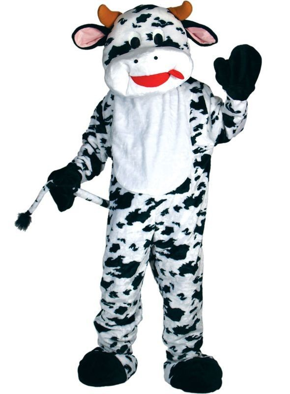 Cow Mascot Fancy Dress Costume (Animals)