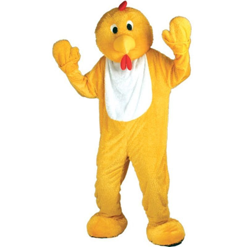 Yellow Chicken Mascot Fancy Dress Costume (Animals)