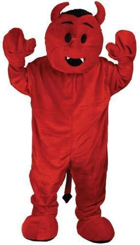 Red Devil Mascot Fancy Dress (Christmas)