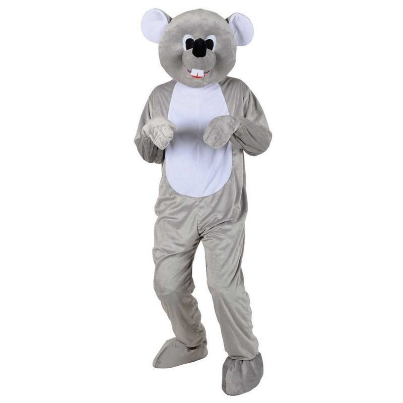 Adult Unisex Mascots - Cute Mouse Animal Outfit - One Size (Grey)