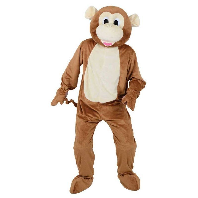 Adult Unisex Mascots - Cheeky Monkey Animal Outfit - One Size (Brown)