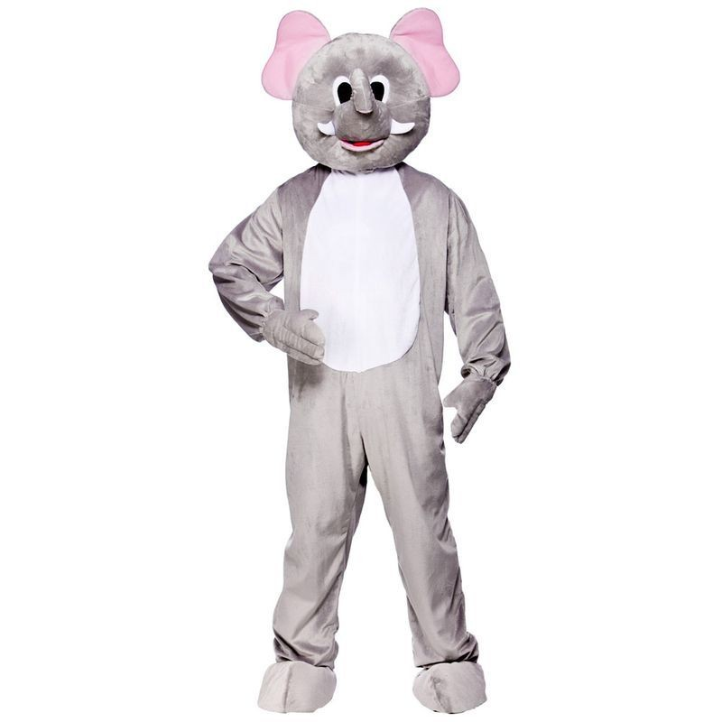 Adult Unisex Mascot - Elephant Animal Outfit - One Size (Grey)