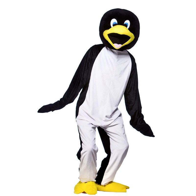 Adult Unisex Mascot - Penguin Animal Outfit - One Size (Black, White)