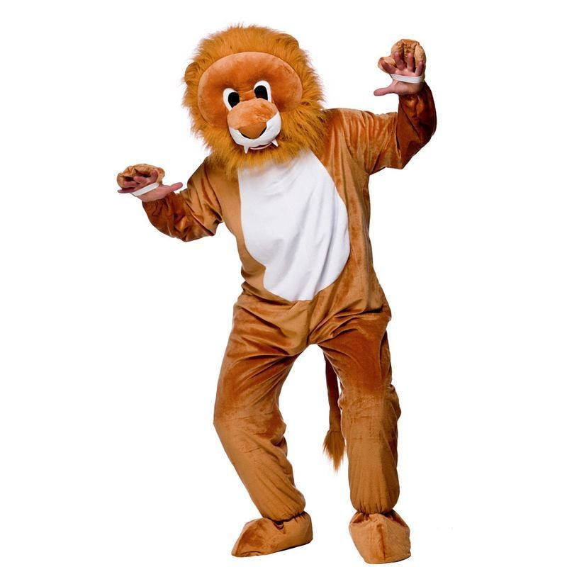 Adult Unisex Mascot - Lion Animal Outfit - One Size (Yellow)