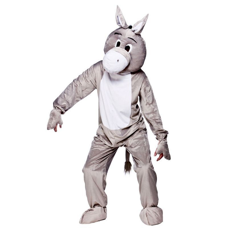Adult Unisex Mascot - Donkey Animal Outfit - One Size (Grey)