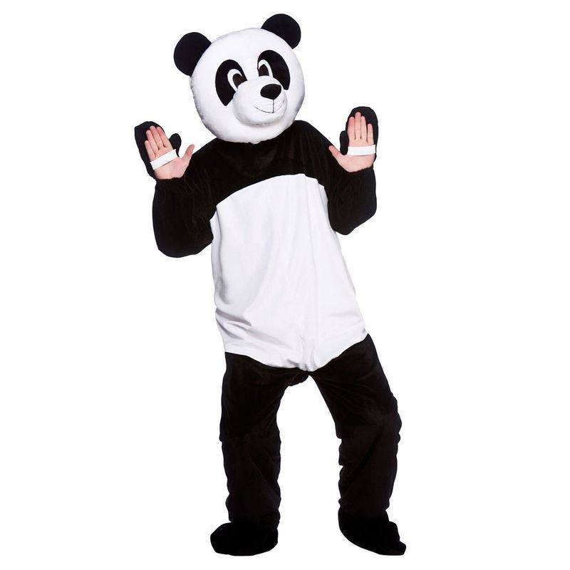 Adult Unisex Mascot - Panda Animal Outfit - One Size (Black, White)