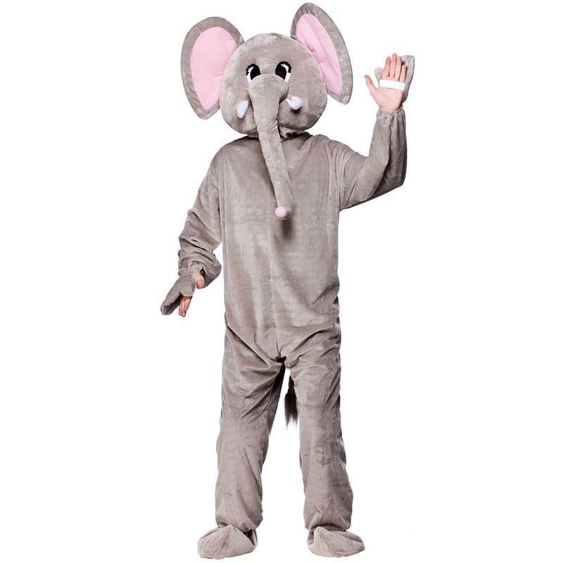 Adult Unisex Mascot - Paradise Elephant Animal Outfit - One Size (Grey)