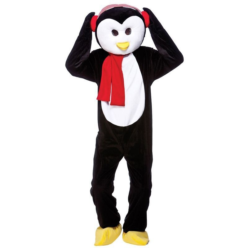 Adult Unisex Cute Christmas Penguin Mascot Animal - One Size (Black, White)