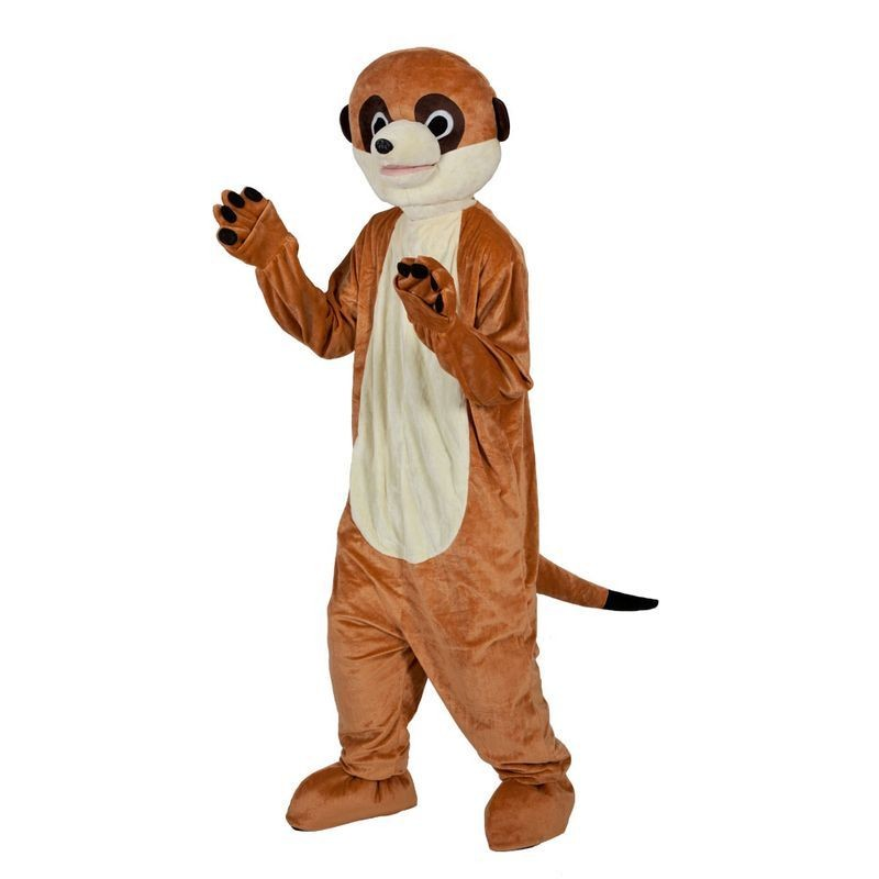 Adult Unisex Mascot - Funny Meerkat Animal Outfit - One Size (Brown)
