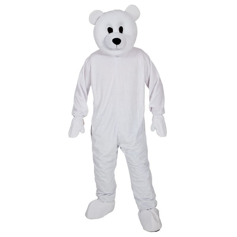 Adult Unisex Mascot - Cool Polar Bear Animal Outfit - One Size (White)