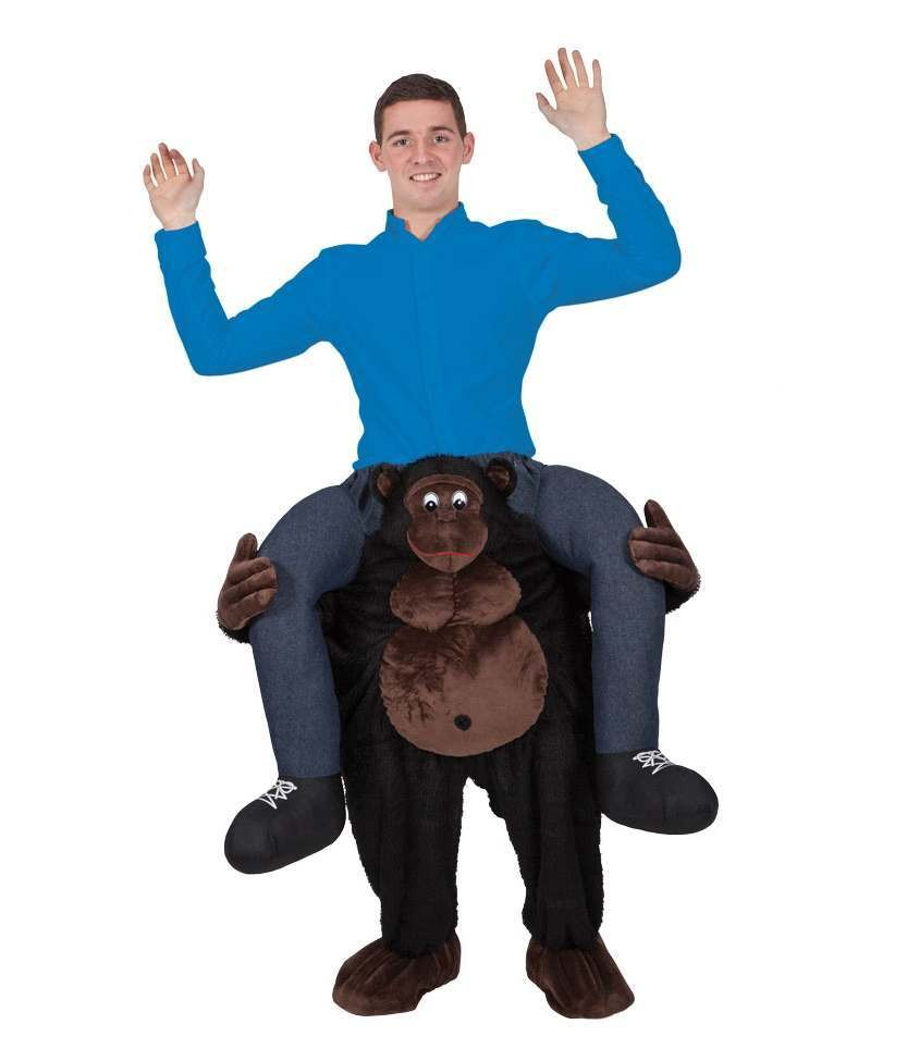 Wild Gorilla Carry Me Mascot Fancy Dress Costume