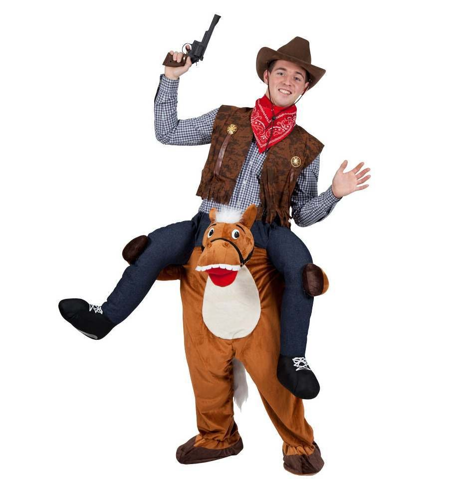 Wild Western Horse Carry Me Mascot Fancy Dress Costume