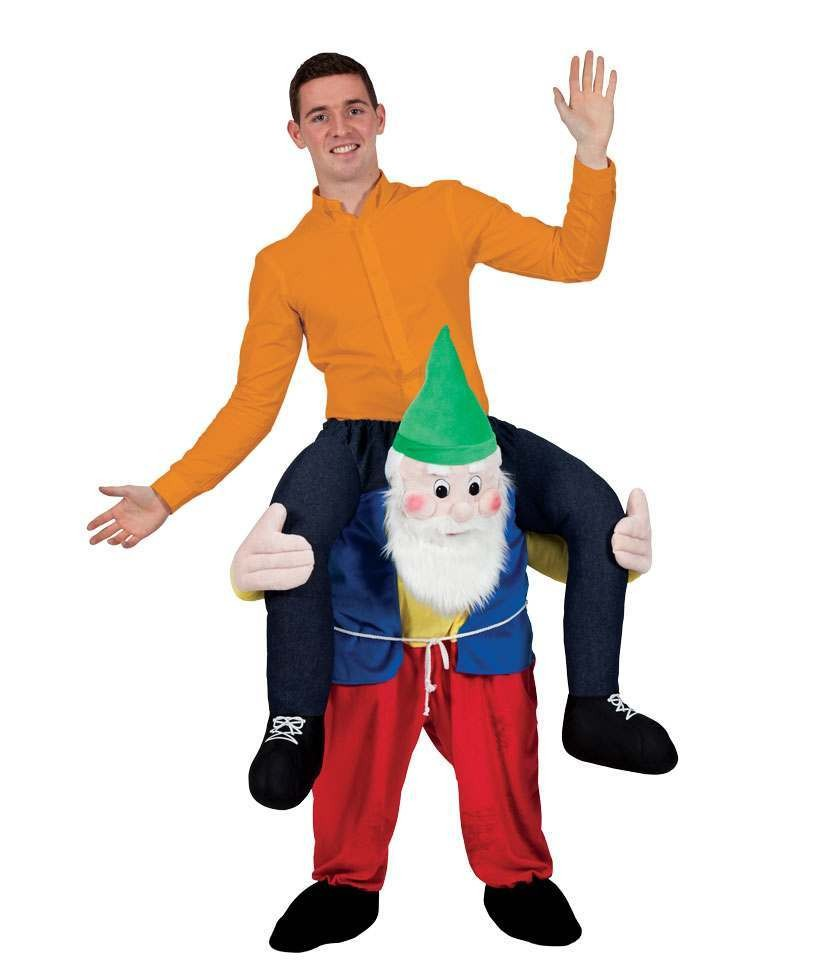 Garden Gnome Carry Me Mascot Fancy Dress Costume