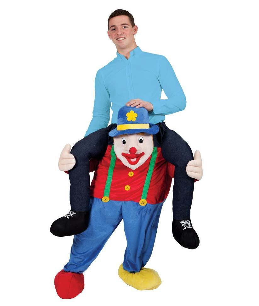 Crazy Circus Clown Carry Me Mascot Fancy Dress Costume