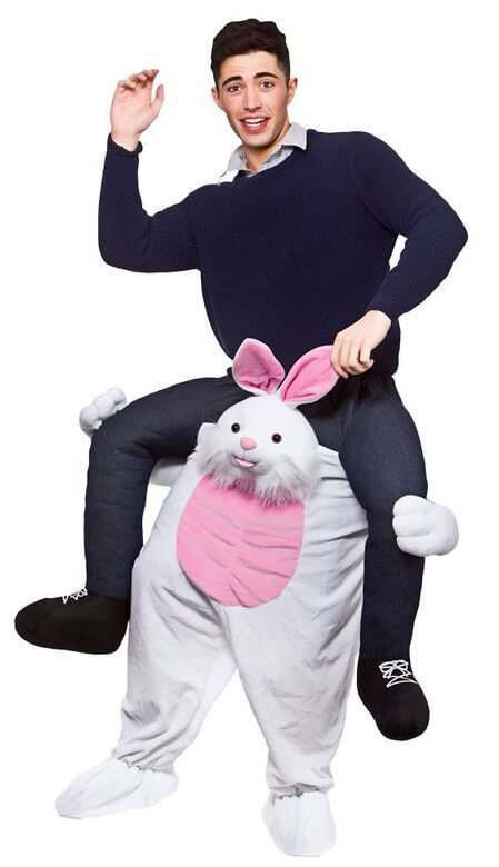 Cute Easter Bunny Carry Me Mascot Fancy Dress Costume