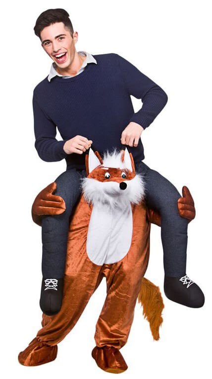 Fantastic Fox Carry Me Mascot Fancy Dress Costume