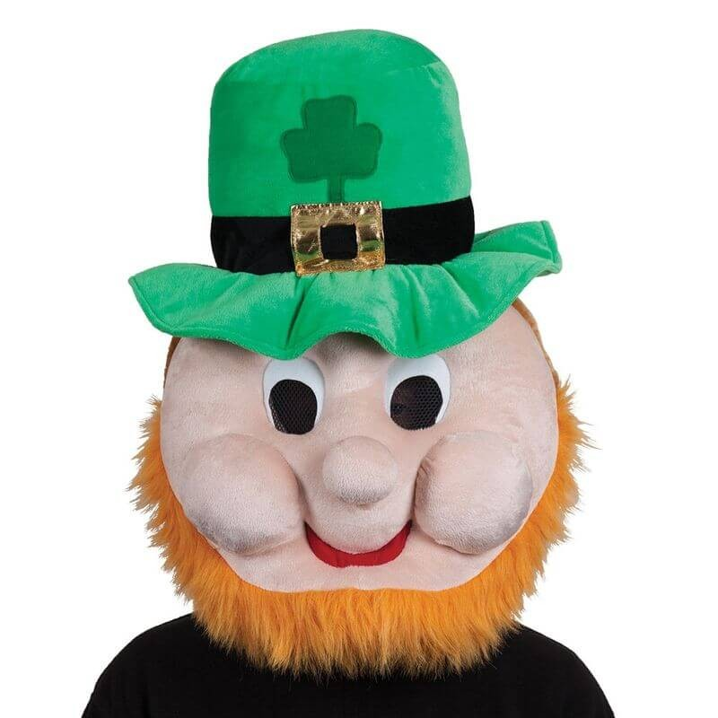 Adults St Patricks Leprechaun Head  Fancy Dress Accessory