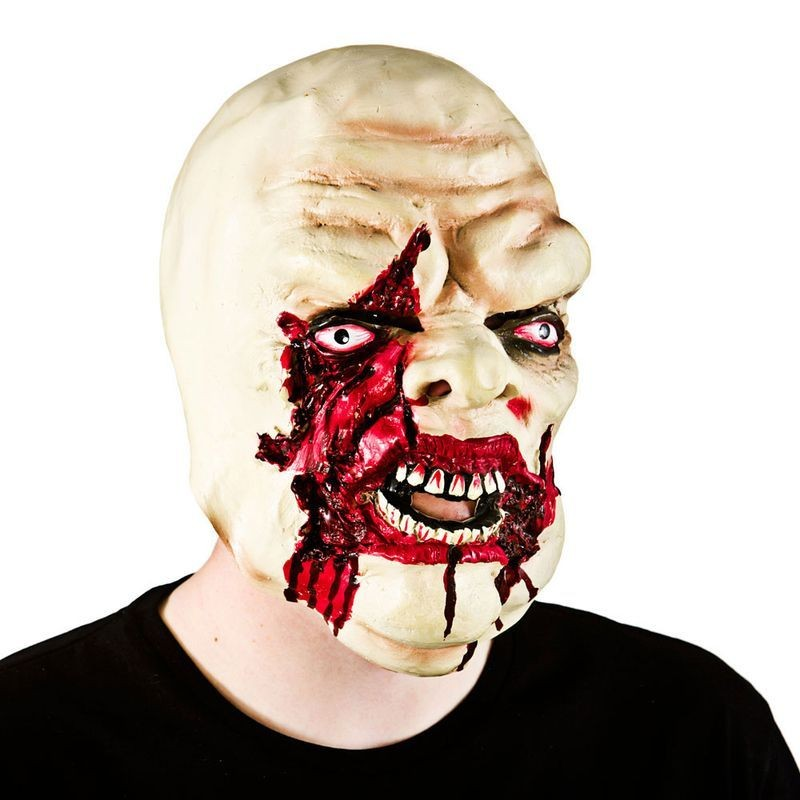 Adult Unisex Bloody Zombie Mask Masks - (White)