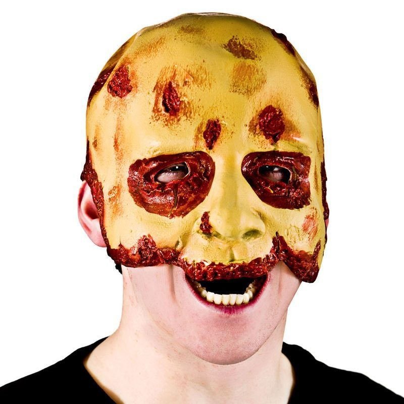Adult Unisex Half Face Zombie Masks - (Yellow)