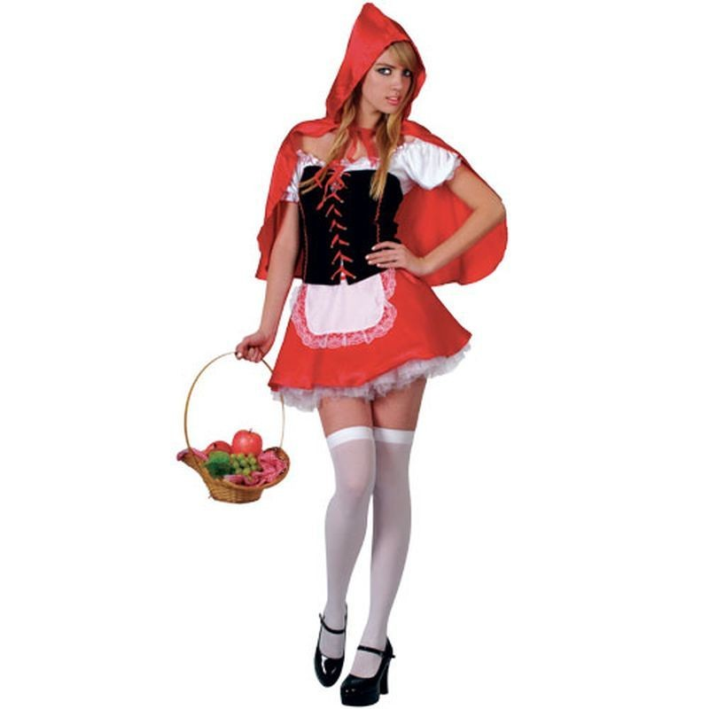 Red Hot Riding Hood Fancy Dress Costume Ladies (Fairy Tales)