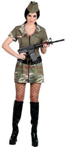 Ladies Corporal Cutie Costume Fancy Dress (Army)