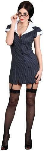 Ladies Sexy Secretary Costume Fancy Dress (Sexy)