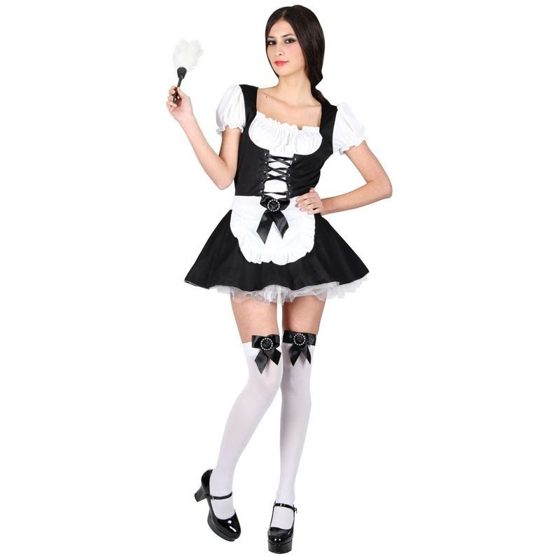 Ladies Flirty French Maid Costume Fancy Dress (French)