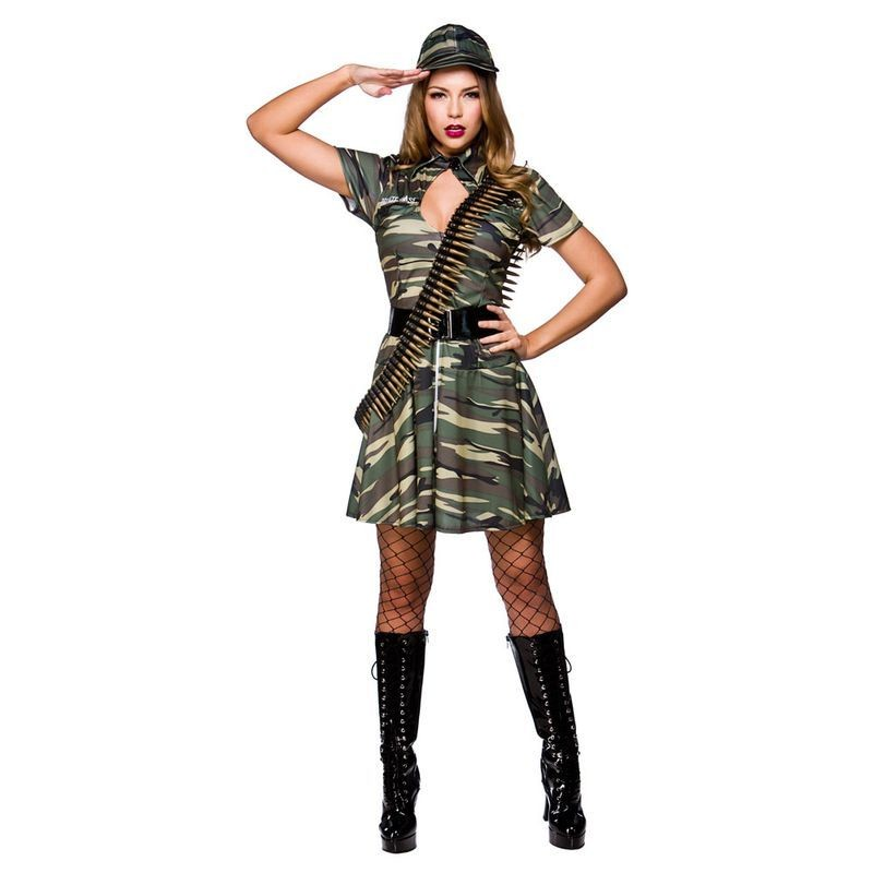 Ladies Combat Cutie Army Outfit - (Camo)