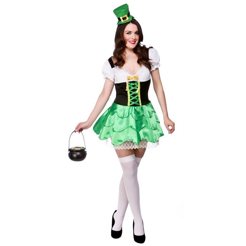 Ladies Cheeky Leprechaun Folklore Outfit - (Green)