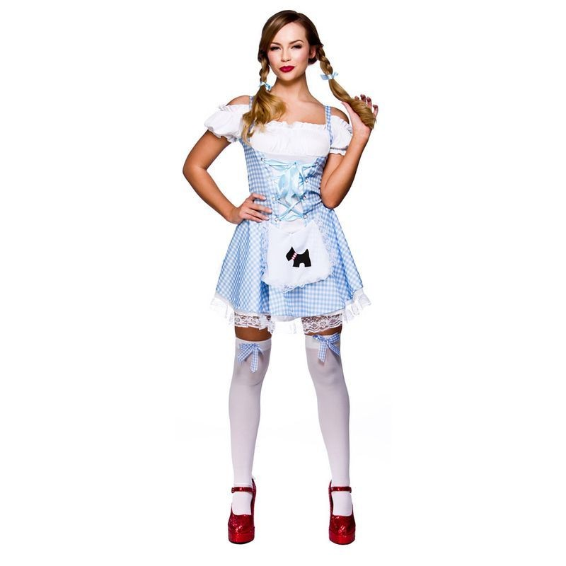 Ladies Sexy Dorothy Fairy Tales Outfit - (Blue, White)