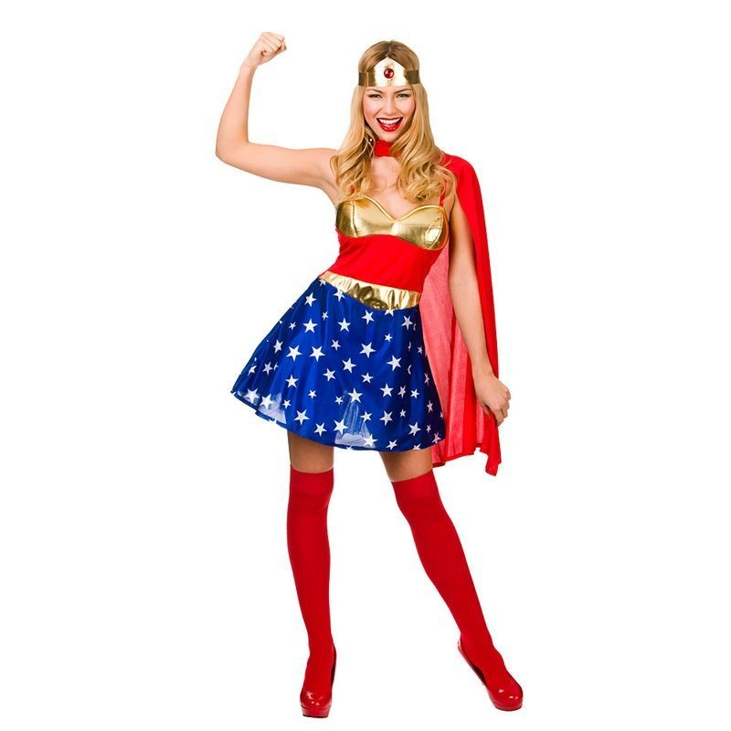 Ladies Sexy Super Hero Fancy Dress Costume