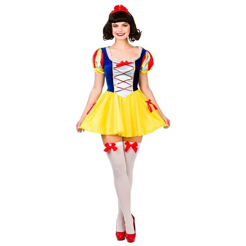 Ladies Multicolour Fantasy Snow Princess Fancy Dress Costume