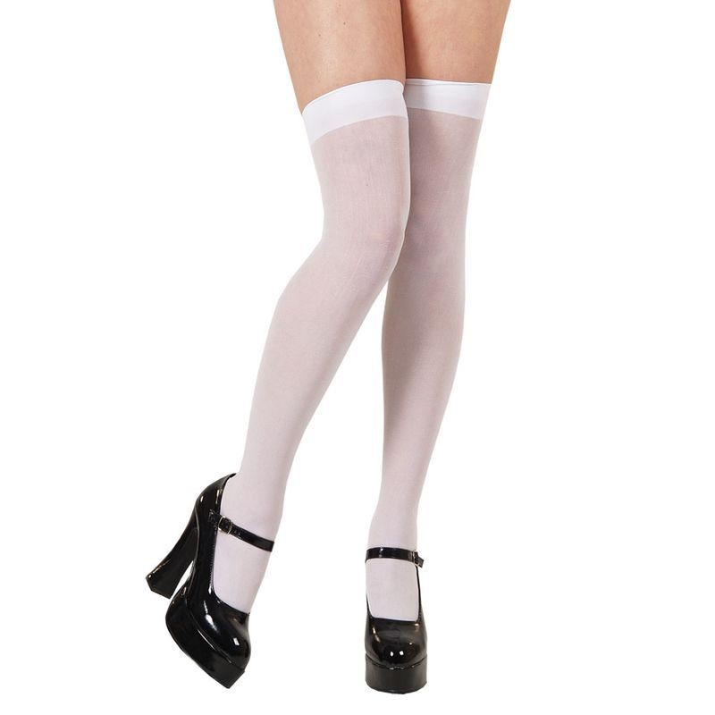 Thigh Highs / White - Fancy Dress Ladies