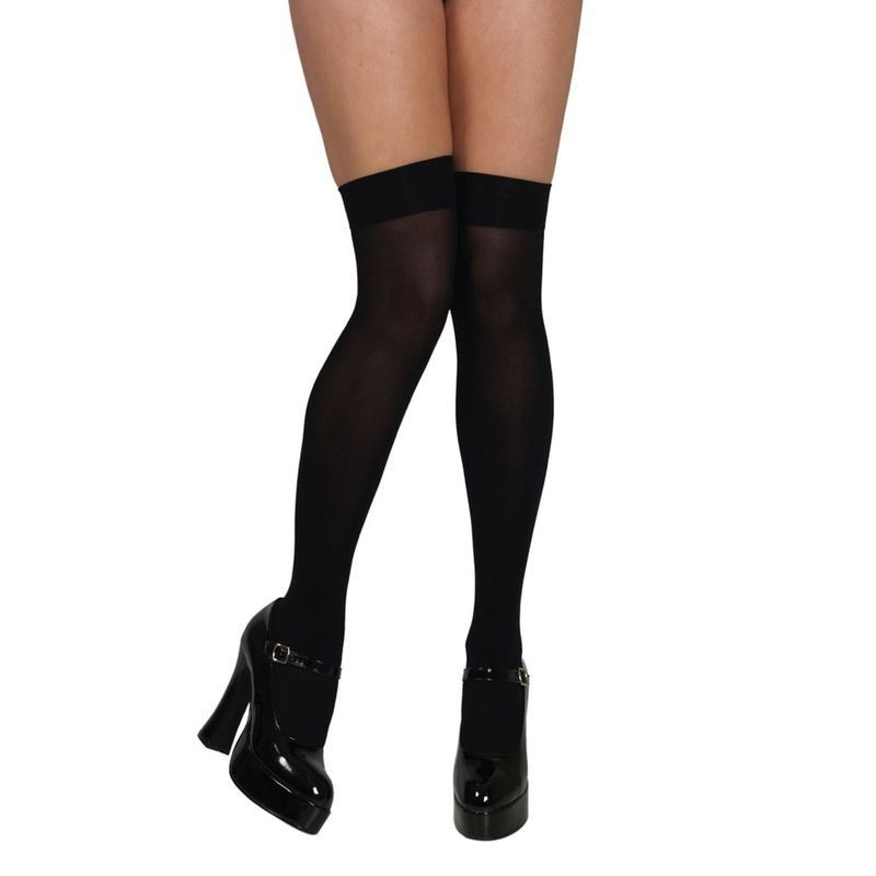 Thigh Highs / Black - Fancy Dress Ladies