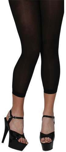 40D Footless Tights - Black Fancy Dress