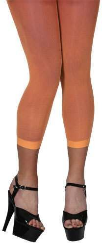 40D Footless Tights - Neon Orange Fancy Dress