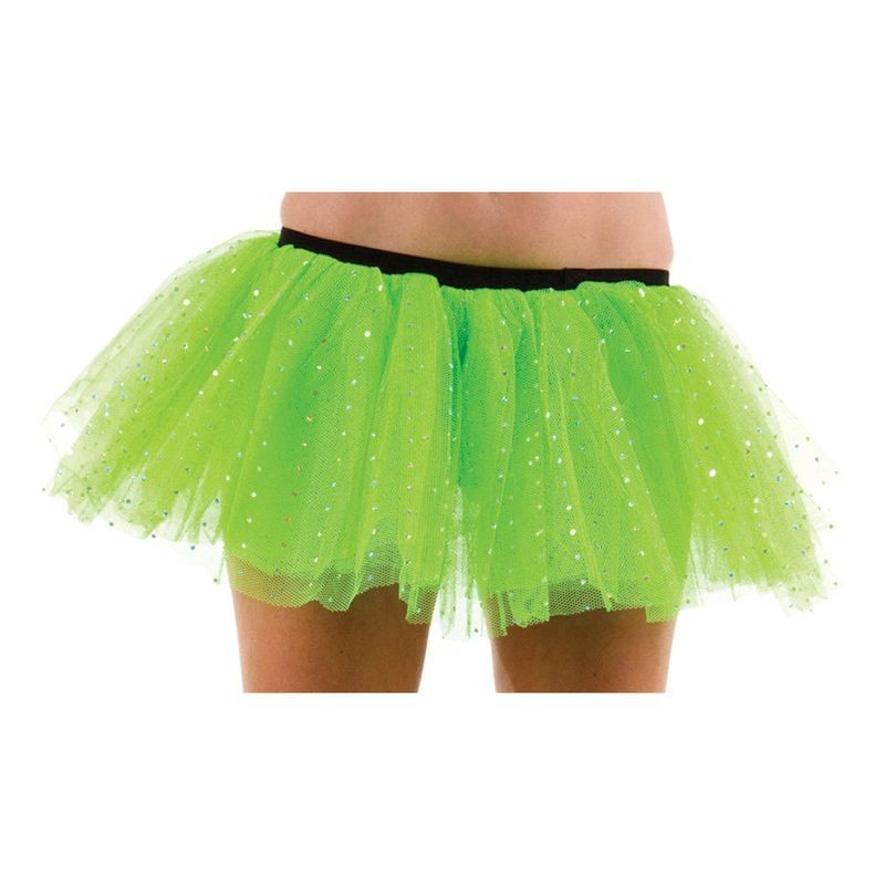 Club Sparkle Tu Tu-Green - Fancy Dress Ladies