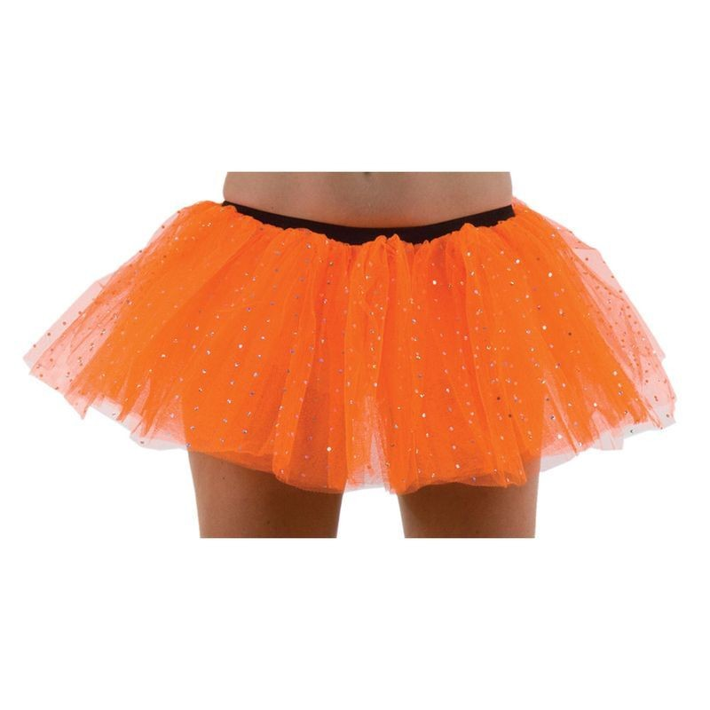 Club Sparkle Tu Tu-Orange - Fancy Dress Ladies