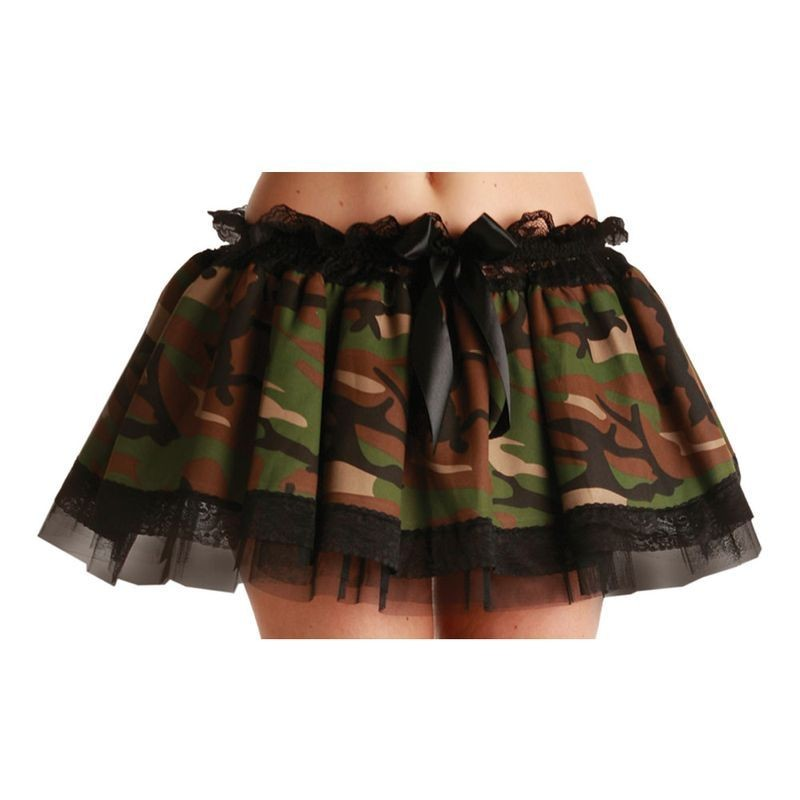 Camoflage Tutu - Fancy Dress Ladies (Army)