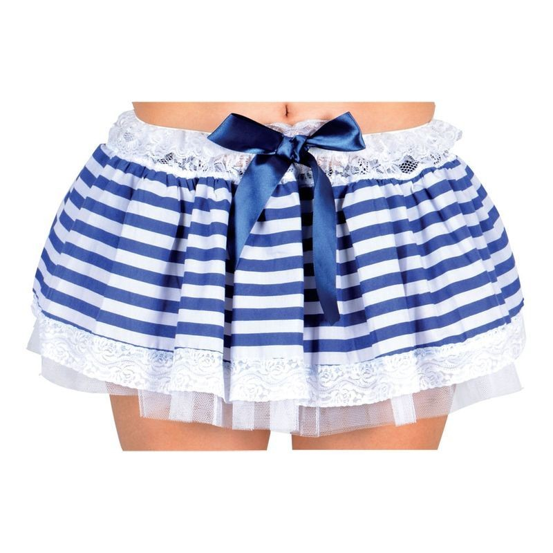 Ladies Sailor Girl Tutu Navy/White (Plus Size) Tutus - Plus Size (Blue, White)