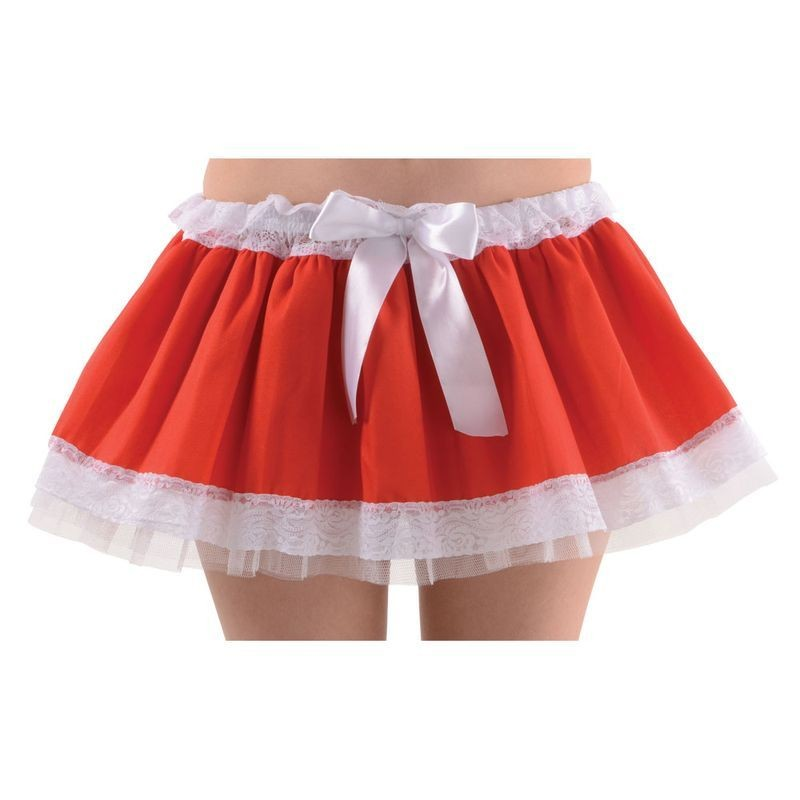 Ladies Red / White Christmas Tutu Tutus - (Red,White)