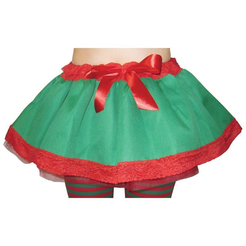 Ladies Elf / Santa'S Helper Tutu Christmas Tutus - (Red, Green)