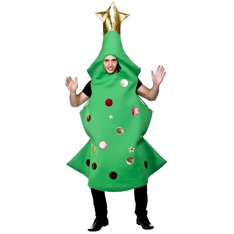 Adult Unisex Christmas Tree Christmas Outfit - One Size (Green)